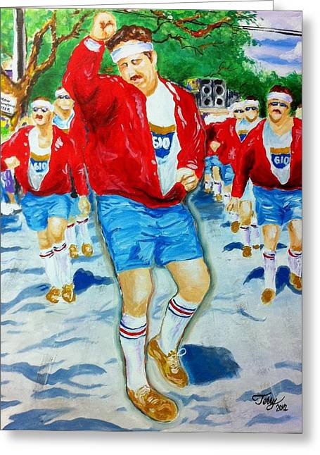 610 Stompers Greeting Card by Terry J Marks Sr