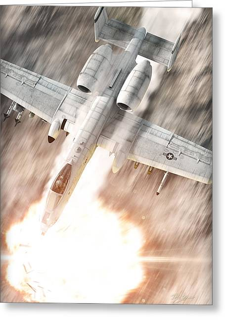 A-10 Thunderbolt II Greeting Card by David Collins