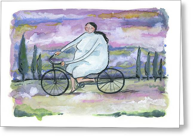A Beautiful Day For A Ride Greeting Card by Leanne WILKES