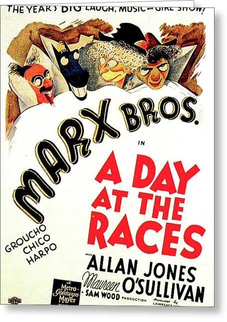 A Day At The Races 1937 Greeting Card by M G M