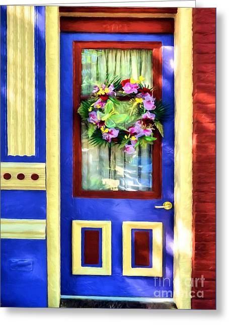 Greeting Card featuring the photograph A Door Of Many Colors # 2 by Mel Steinhauer