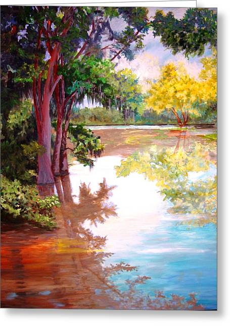 Greeting Card featuring the painting A Fine Day by AnnE Dentler