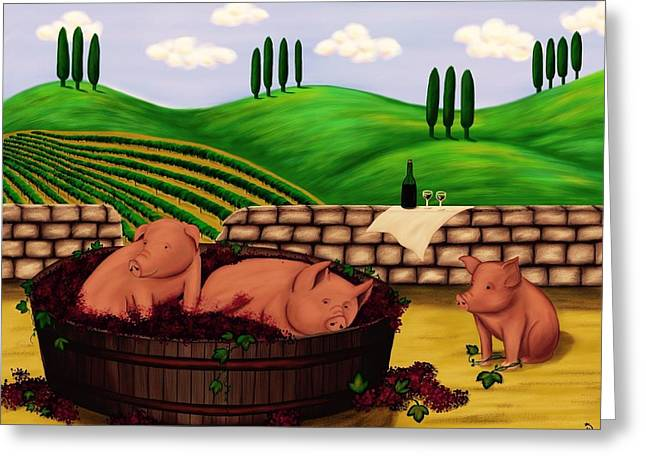 A Fine Italian Swine Greeting Card