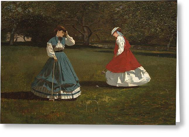 A Game Of Croquet Greeting Card