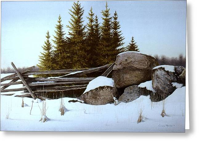 A Gentle Winter Breeze Greeting Card by Conrad Mieschke