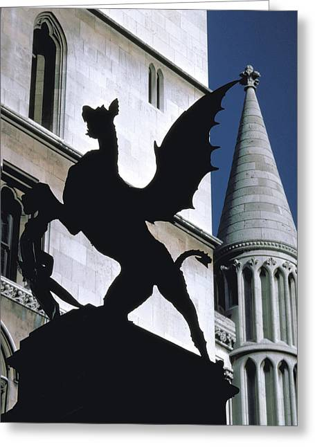 A Griffin On Fleet Street Greeting Card