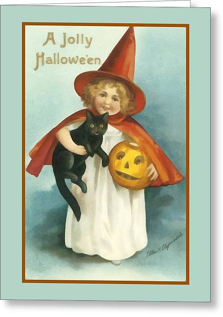 A Jolly Halloween Greeting Card by Ellon Clapsaddle