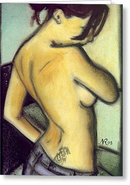 A Liaison With Ink Greeting Card by Natalie Roberts