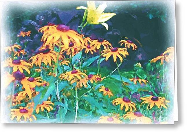 Greeting Card featuring the painting A Lily In The Field by Patricia Griffin Brett