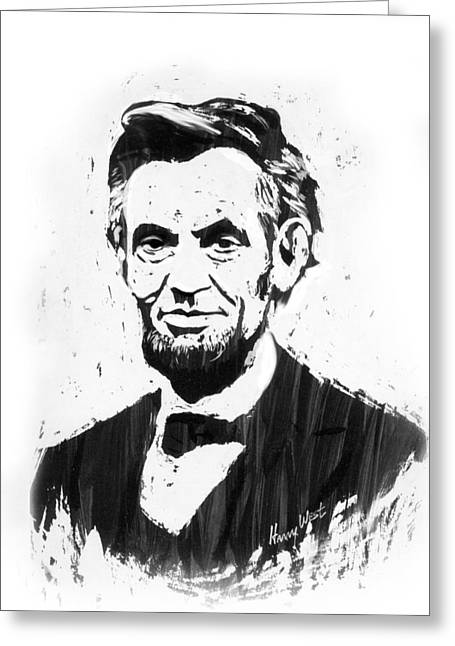 A. Lincoln Greeting Card by Harry West