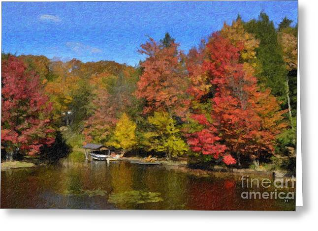 A Little Piece Of Adirondack Heaven Greeting Card by Diane E Berry