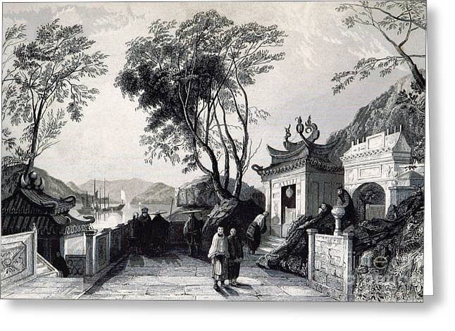 A-ma Temple, Macau, China, 19th Century Greeting Card by British Library