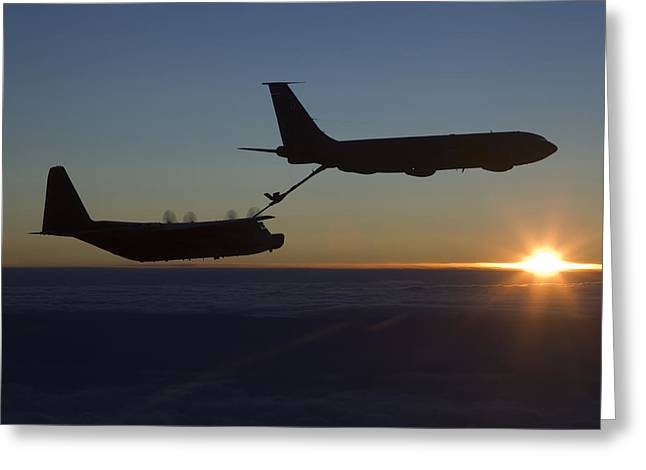 A Mc-130h Combat Talon II Greeting Card
