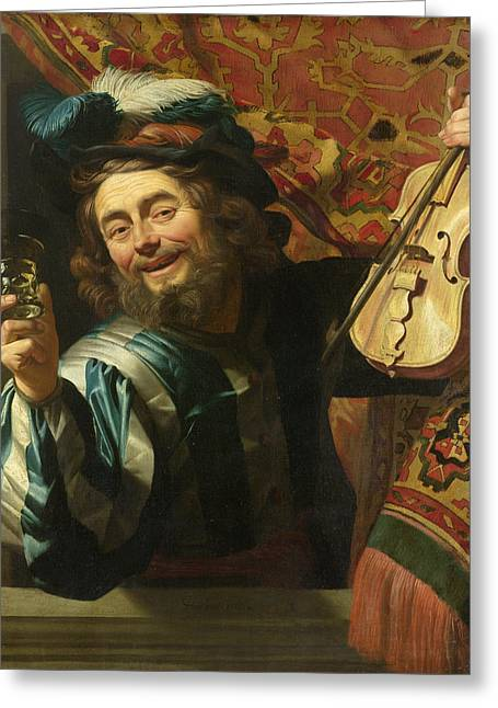 A Merry Fiddler Greeting Card