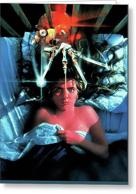 A Nightmare On Elm Street 1984 Greeting Card by Caio Caldas