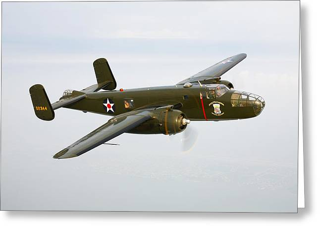 Military Planes Greeting Cards - A North American B-25 Mitchell Greeting Card by Scott Germain