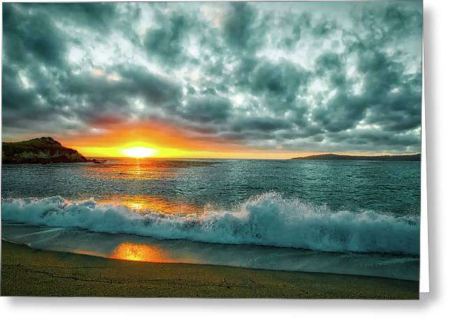 A Pacific Sunset Greeting Card