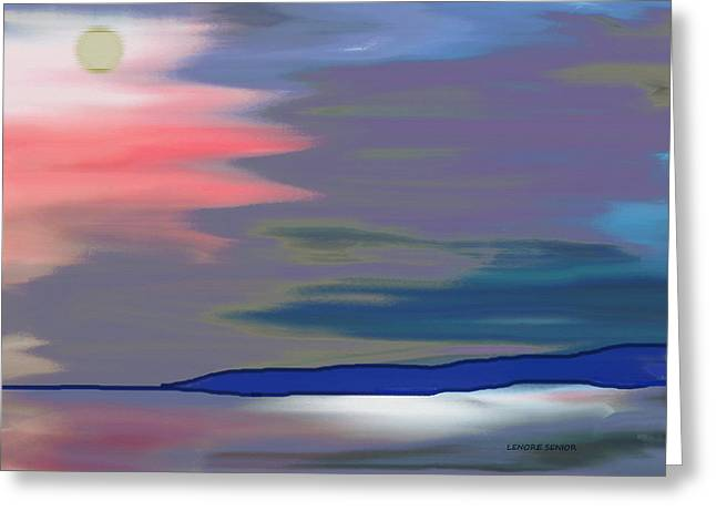 A Quiet Evening Greeting Card by Lenore Senior