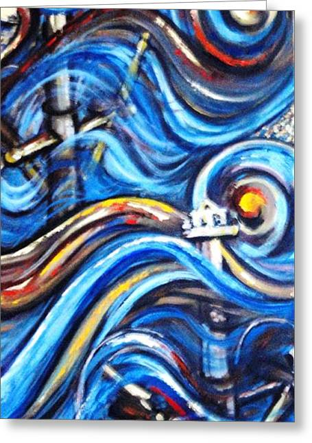 Greeting Card featuring the painting A Ray Of Hope 4 by Harsh Malik