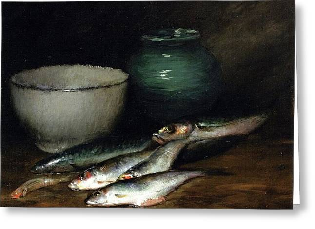 A Small Pile Of Fish William Merritt Chase Greeting Card