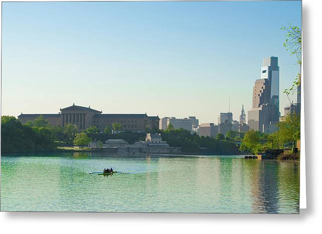 Greeting Card featuring the photograph A Spring Morning In Philadelphia by Bill Cannon