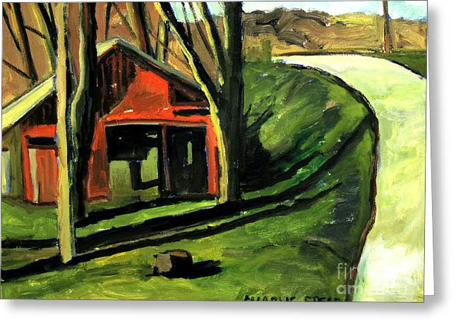 A Spring Noon Near Weasau Creek Plein Air Greeting Card