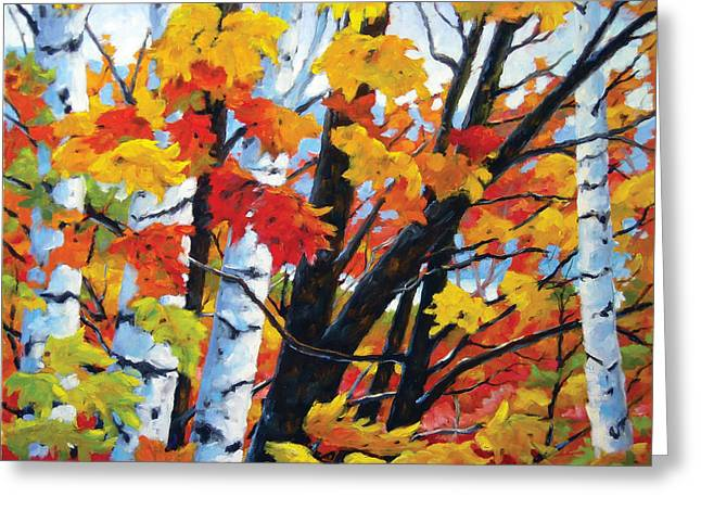 A Touch Of Canada Greeting Card by Richard T Pranke