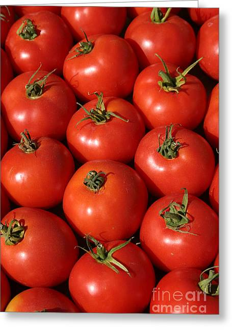 A Trip Through The Farmers Market With Red Tomatoes Greeting Card by Michael Ledray