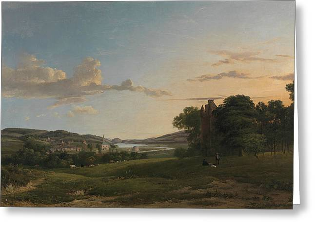 A View Of Cessford And The Village Of Caverton, Roxboroughshire In The Distance  Greeting Card by Patrick Nasmyth