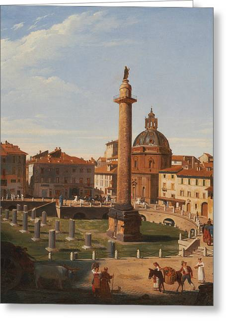 A View Of Trajan's Forum, Rome Greeting Card by Charles Lock Eastlake