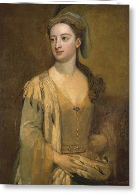 A Woman Called Lady Mary Wortley Montagu Greeting Card by Godfrey Kneller