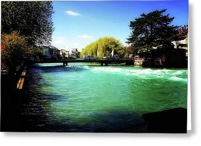 Aare River Greeting Card by Mimulux patricia no No