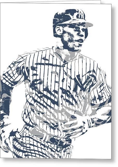 Aaron Judge New York Yankees Pixel Art 10 Greeting Card