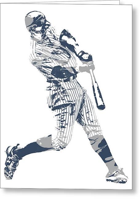 Aaron Judge New York Yankees Pixel Art 13 Greeting Card