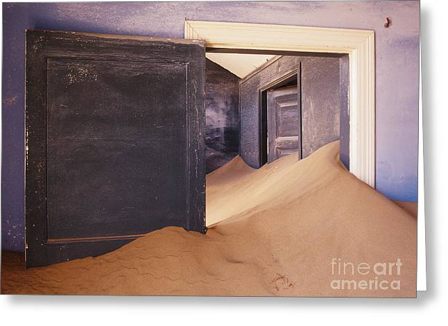 Abandoned House Filled With Drifting Sand Greeting Card by Jeremy Woodhouse