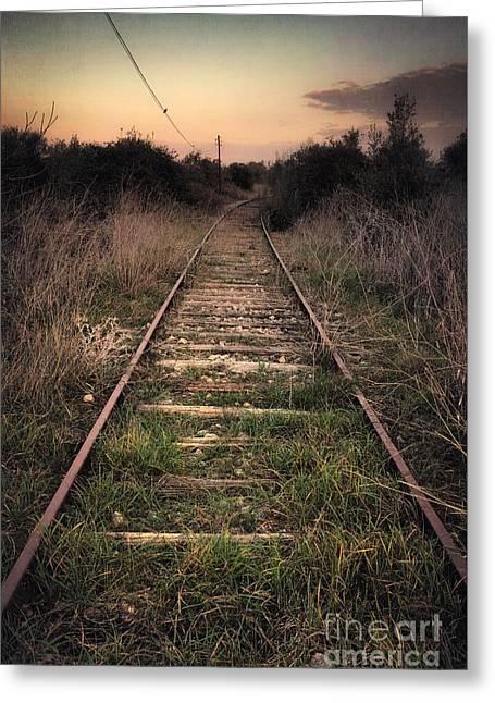 Abandoned Railway Greeting Card by Carlos Caetano