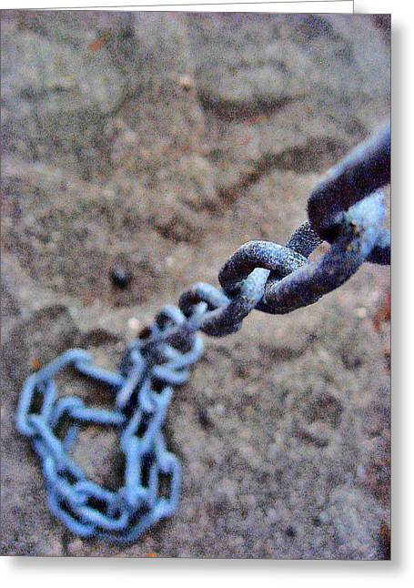 about LOVE. Iron chain. Greeting Card