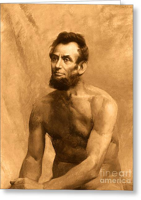 Abraham Lincoln Nude Greeting Card