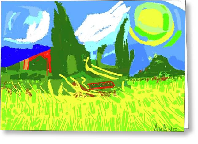 Abstract-6 Greeting Card by Anand Swaroop Manchiraju