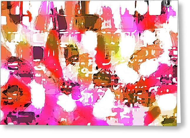 Abstract Art Greeting Card by Ralph Klein