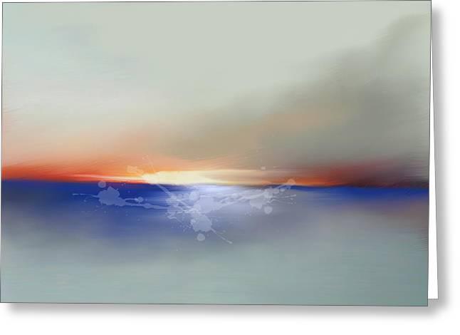 Abstract Beach Sunrise  Greeting Card