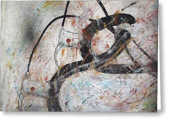 Abstract Bike Greeting Card by Thomas Armstrong
