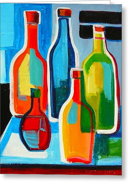Abstract Bottles Greeting Card