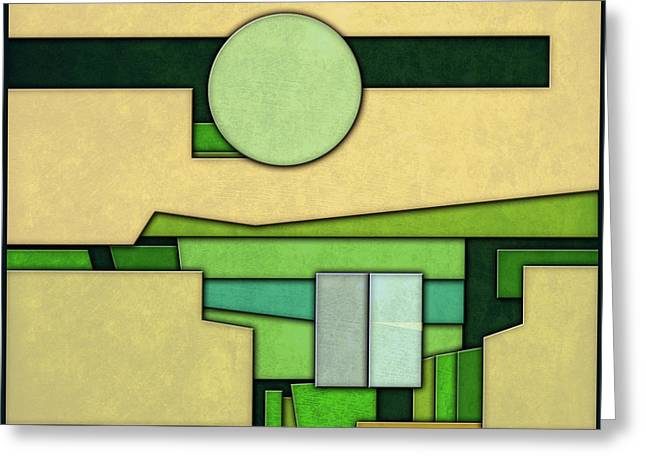 Abstract Cubist Greeting Card