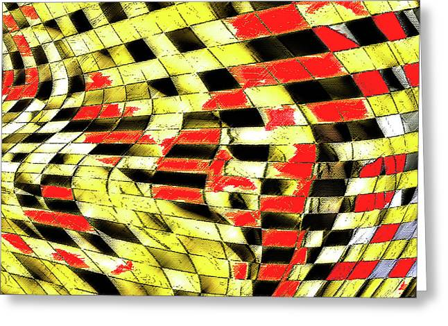 Abstract Curves Greeting Card by Ralph Klein