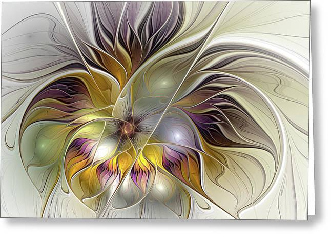 Abstract Fantasy Flower Greeting Card