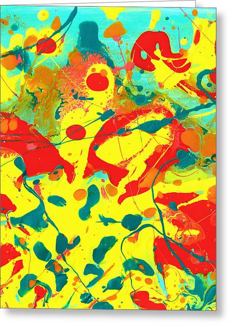 Abstract Floral Fantasy Panel B Greeting Card by Amy Vangsgard