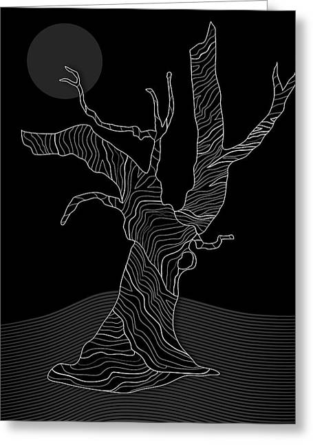 Abstract Gnarly Tree Greeting Card by Serena King