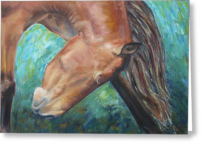 Abstract Horse One Greeting Card