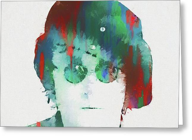 Abstract Lennon Greeting Card